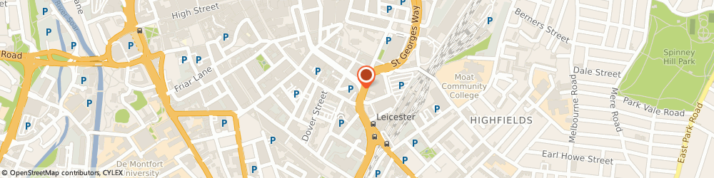 Route/map/directions to British Army Careers Centres - AFCO Leicester, LE1 1SH Leicester, 6 St George's Way