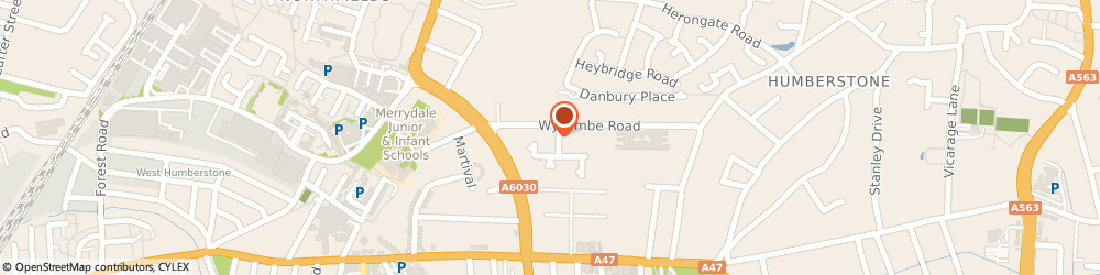 Route/map/directions to Leicester City Council, LE5 0PR Leicester, WYCOMBE ROAD, MUNDELLA COMMUNITY COLLEGE