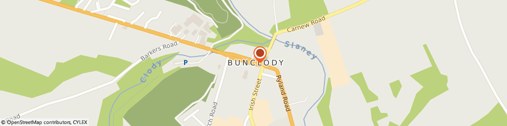 Route/map/directions to McGuills Funeral Home,  Bunclody, WOOD ROAD
