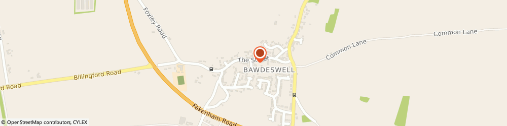 Route/map/directions to Post Office Limited, NR20 4RT Bawdeswell, All Saints Church