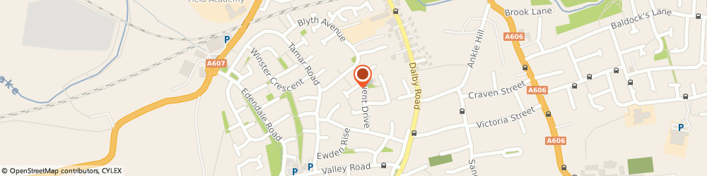 Route/map/directions to Carol Cartwright, LE13 0UZ Melton Mowbray, 11 Tweed Drive