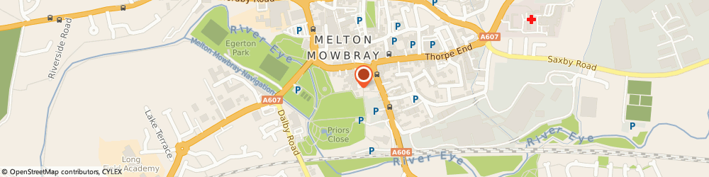 Route/map/directions to Kelly Charmaine Gibbs, LE13 0PW Melton Mowbray, Church Terrace