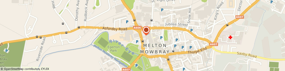 Route/map/directions to Shouler & Son, LE13 0UJ Melton Mowbray, 1 Wilton Rd