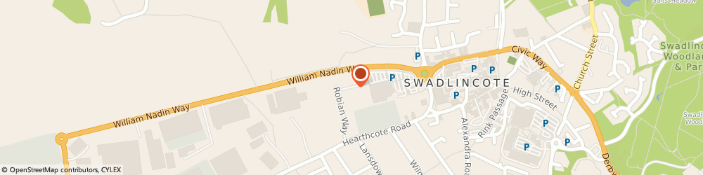 Route/map/directions to The Pitstop (Swadlincote) Ltd, DE11 9DH Swadlincote, Robian Way