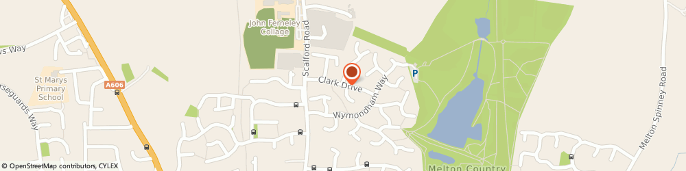 Route/map/directions to Serena Cole, LE13 1HU Melton Mowbray, 33 Clark Drive