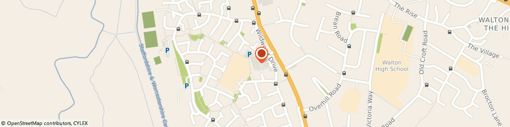 Route/map/directions to The Co-operative Food -  Cannock Road, Stafford, ST17 4RA Stafford, Cannock Road