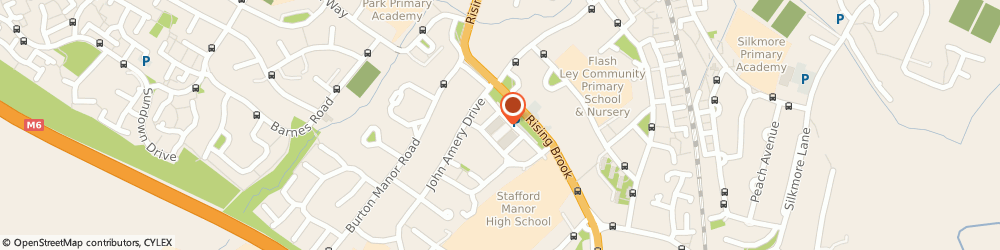 Route/map/directions to Post Office Limited, ST17 9LT Stafford, 1 - 2 Burton Square