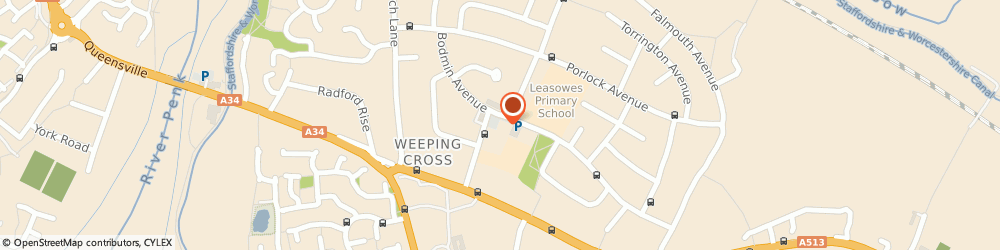 Route/map/directions to The Co-operative Food -  Weeping Cross, ST17 0EA Stafford, Lynton Avenue