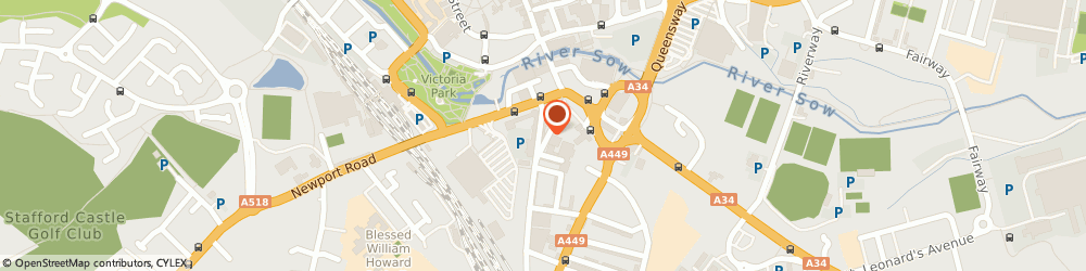 Route/map/directions to UPS Solutions Logistics, ST17 4AA Stafford, 1A Friars Road