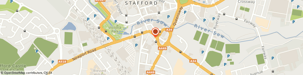 Route/map/directions to Francesco Group - Stafford, ST17 4BG Stafford, 4 Bailey Street