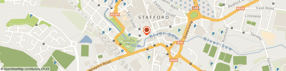 Route/map/directions to LloydsPharmacy, ST16 2AG Stafford, Millbank Surgery