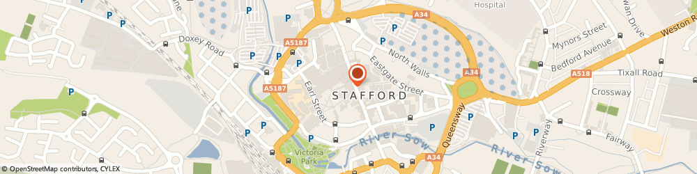 Route/map/directions to Carphone Warehouse, ST16 2JE Stafford, 55 Greengate Street
