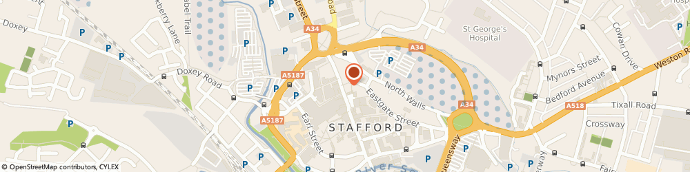 Route/map/directions to COSTA COFFEE, ST16 2NR Stafford, 38 Gaolgate Street