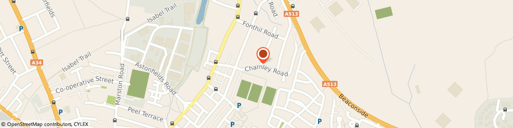 Route/map/directions to Post Office Limited, ST16 3JX Stafford, 22 Charnley Road