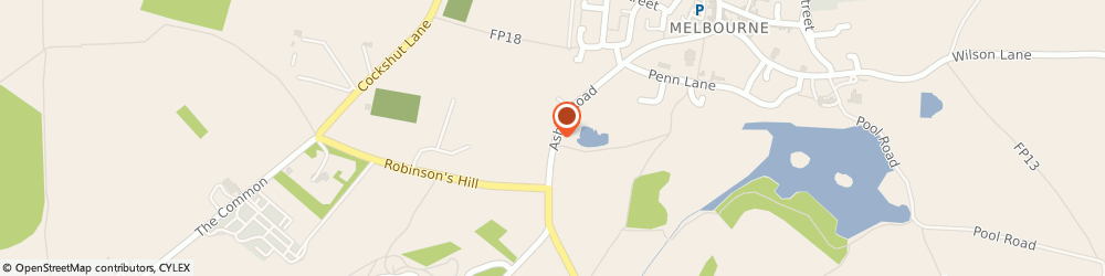 Route/map/directions to Robert Anderson, DE73 1ES Derby, 78, ASHBY ROAD, MELBOURNE