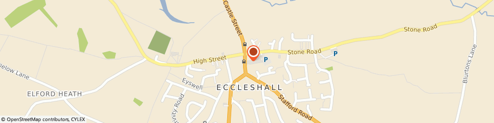Route/map/directions to The Co-operative Food - Eccleshall, ST21 6BH Stafford, Stafford Street