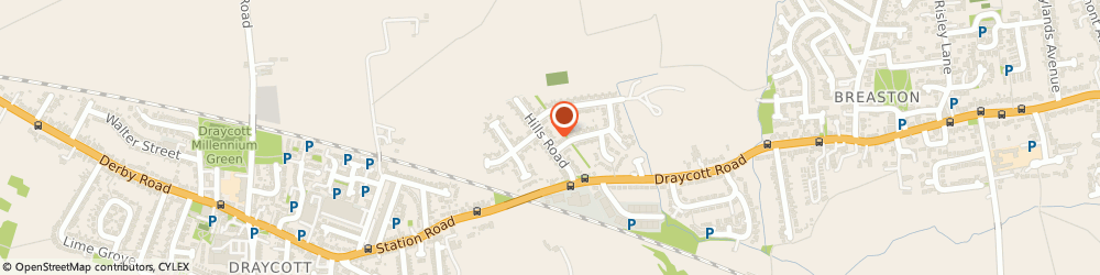Route/map/directions to Midlands Fencing & Landscaping, DE72 3DF Derby, Hills Rd