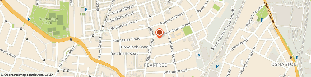 Route/map/directions to Pear Tree Pharmacy, DE23 8RJ Derby, 207 St Thomas Rd