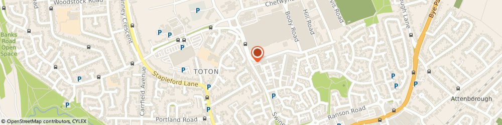 Route/map/directions to Oxfam Charity Shops Toton, NG9 6GX Beeston, Tesco, Swiney Way