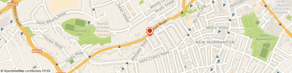 Route/map/directions to Vanquish Letting Services Limited, DE23 6AE Derby, Vicarage Corner House, Burton Road, Derby