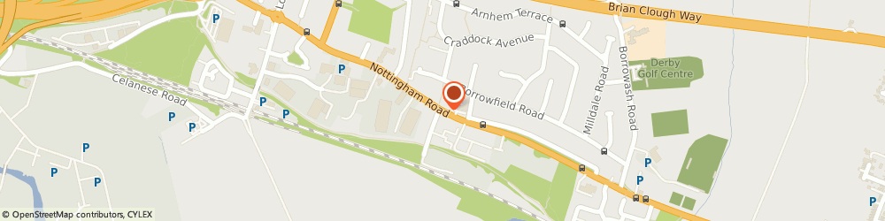 Route/map/directions to Crowfoots Carriers Ltd, DE21 6AW Derby, CHEQUERS LANE, NOTTINGHAM ROAD