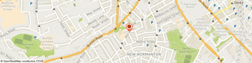 Route/map/directions to Mr Brian Denness - Psychotherapist, DE23 6SA Derby, Temple House , Mill Hill Lane
