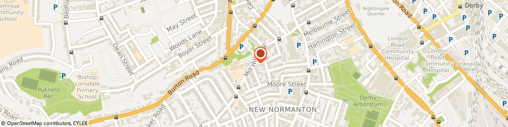Route/map/directions to Department Of Psychotherapy, DE23 6SA Derby, TEMPLE HOUSE, MILL HILL LANE