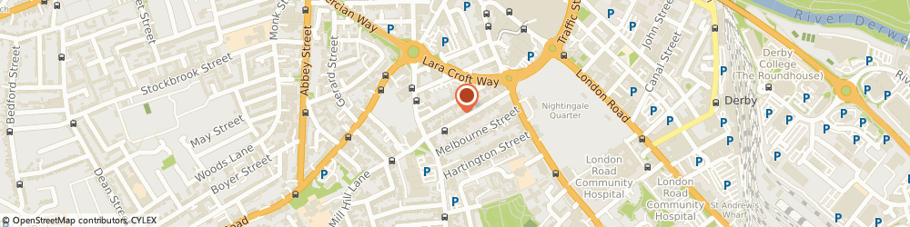 Route/map/directions to Designcore Derby CIC, DE1 2GT Derby, 3 Charnwood Street