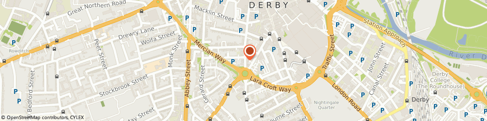 Route/map/directions to gca DERBY, DE1 1RY Derby, 128 Green Lane