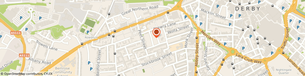 Route/map/directions to The No 1 Ladies' Plumbing Agency, DE22 3RY Derby, 47 WARD STREET