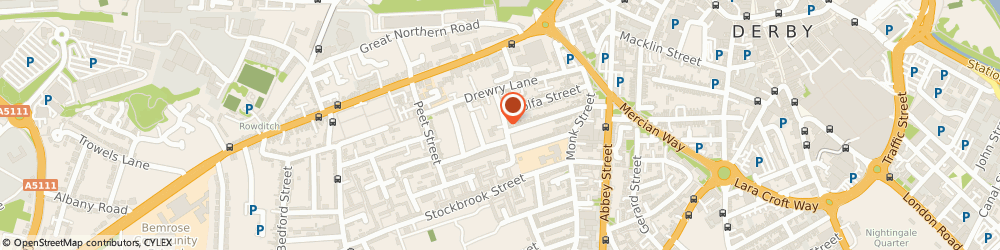 Route/map/directions to Jeptex Ltd, DE22 3SB Derby, 23- 25 Bakewell St