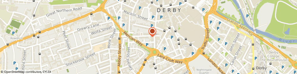 Route/map/directions to Dovedale Damp Co Ltd, DE1 1PL Derby, 72 Wilson St