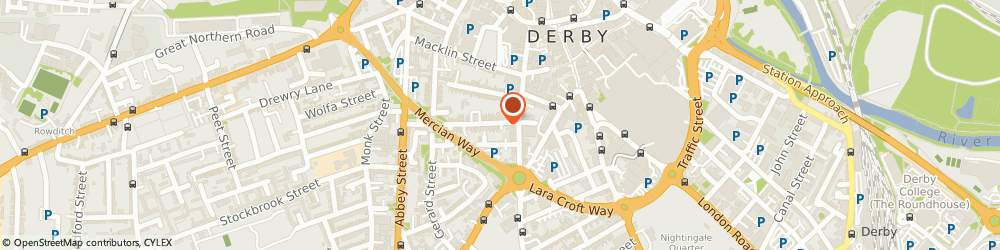 Route/map/directions to Bloobo, DE1 1RX Derby, 72 Wilson St