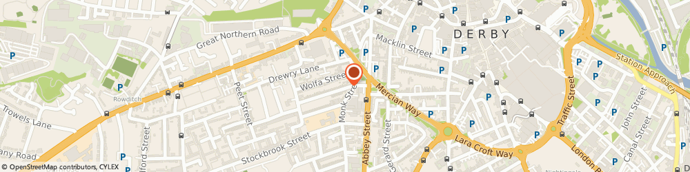Route/map/directions to Maltings, DE22 3QJ Derby, 18 KING ALFRED ST