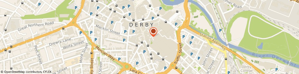Route/map/directions to Mobility At Home Limited, DE1 2NR Derby, St. Peters Way