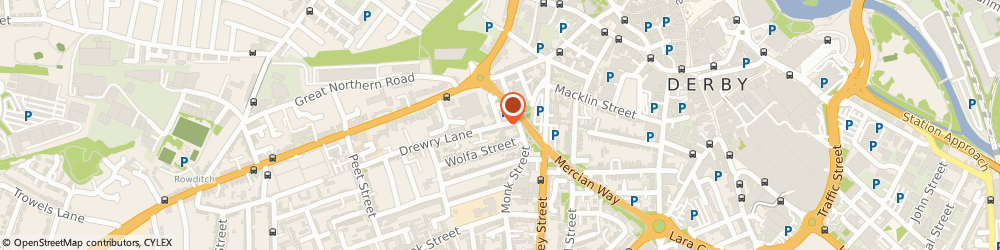 Route/map/directions to Bus Stop Over, DE22 3QS Derby, 29 Drewry Lane