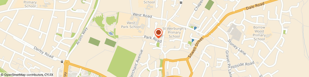 Route/map/directions to Woodward Electrical Limited, DE11 9QE Derby, Park Road
