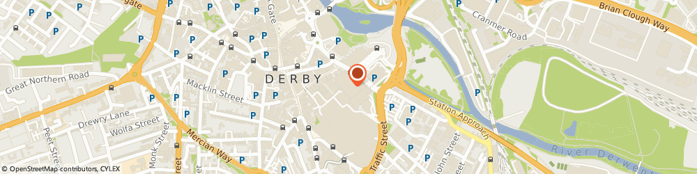 Route/map/directions to Lydia's Fabrics, DE1 2AZ Derby, 23A EAGLE CENTRE