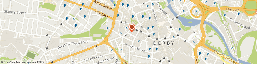 Route/map/directions to AniWebDesigns Pvt Ltd, DE1 1LH Derby, 15A, Curzon Street