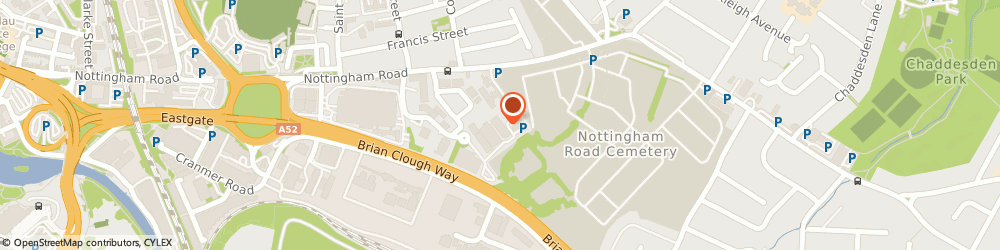 Route/map/directions to Direct 4x4, DE21 6YZ Derby, Unit 2, Masons Place Business Park, Nottingham Road