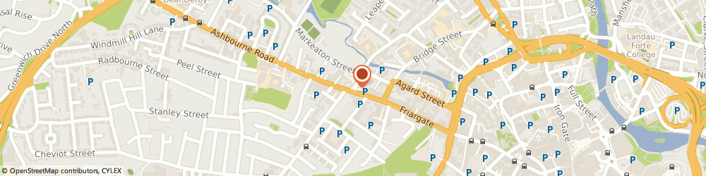 Route/map/directions to Derby Family Chiropractic, DE1 1DY Derby, 13 Brick Street