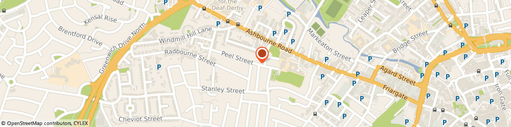 Route/map/directions to Cocco Hairdressing & Beauty, DE22 3GG Derby, 1 Peel Street