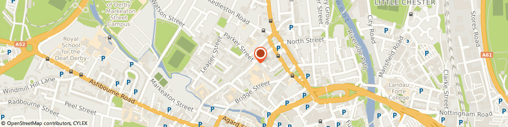 Route/map/directions to Private Investigators Derby, DE1 3JW Derby, Kedleston Street