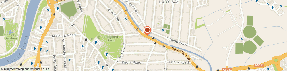 Route/map/directions to Radcliffe Road Cycles, NG2 5HF Nottingham, 152B Radcliffe Road