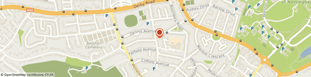 Route/map/directions to Post Office Limited, NG9 2QS Beeston, 99 Central Avenue