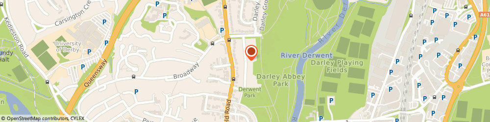 Route/map/directions to Darley Abbey Marketing, DE22 1EL Derby, Bank View Rd