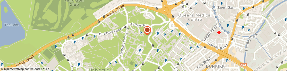 Route/map/directions to Cripps Health Centre, NG7 2QW Nottingham, Cripps Health Centre, University Park