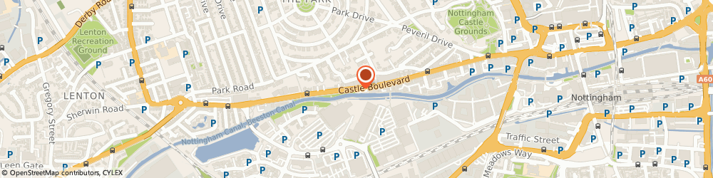 Route/map/directions to Frank Knighton-Nottingham Showroom, NG7 1FN Nottingham, CASTLE BOULEVARD