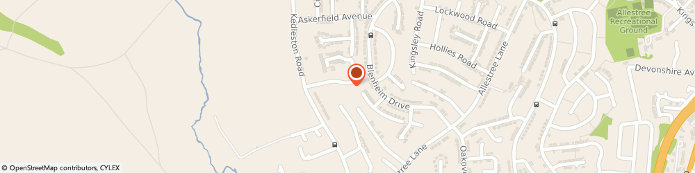 Route/map/directions to D M Plastering, DE22 2NQ Derby, 36 Quarn Drive, Allestree