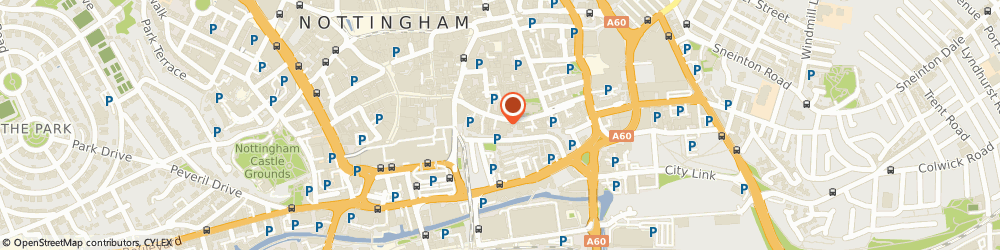 Route/map/directions to The Galleries of Justice, NG1 1HN Nottingham, The Lace Market